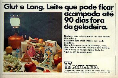 propaganda leite Paulista - 1977.  os anos 70; propaganda na década de 70; Brazil in the 70s, história anos 70; Oswaldo Hernandez;