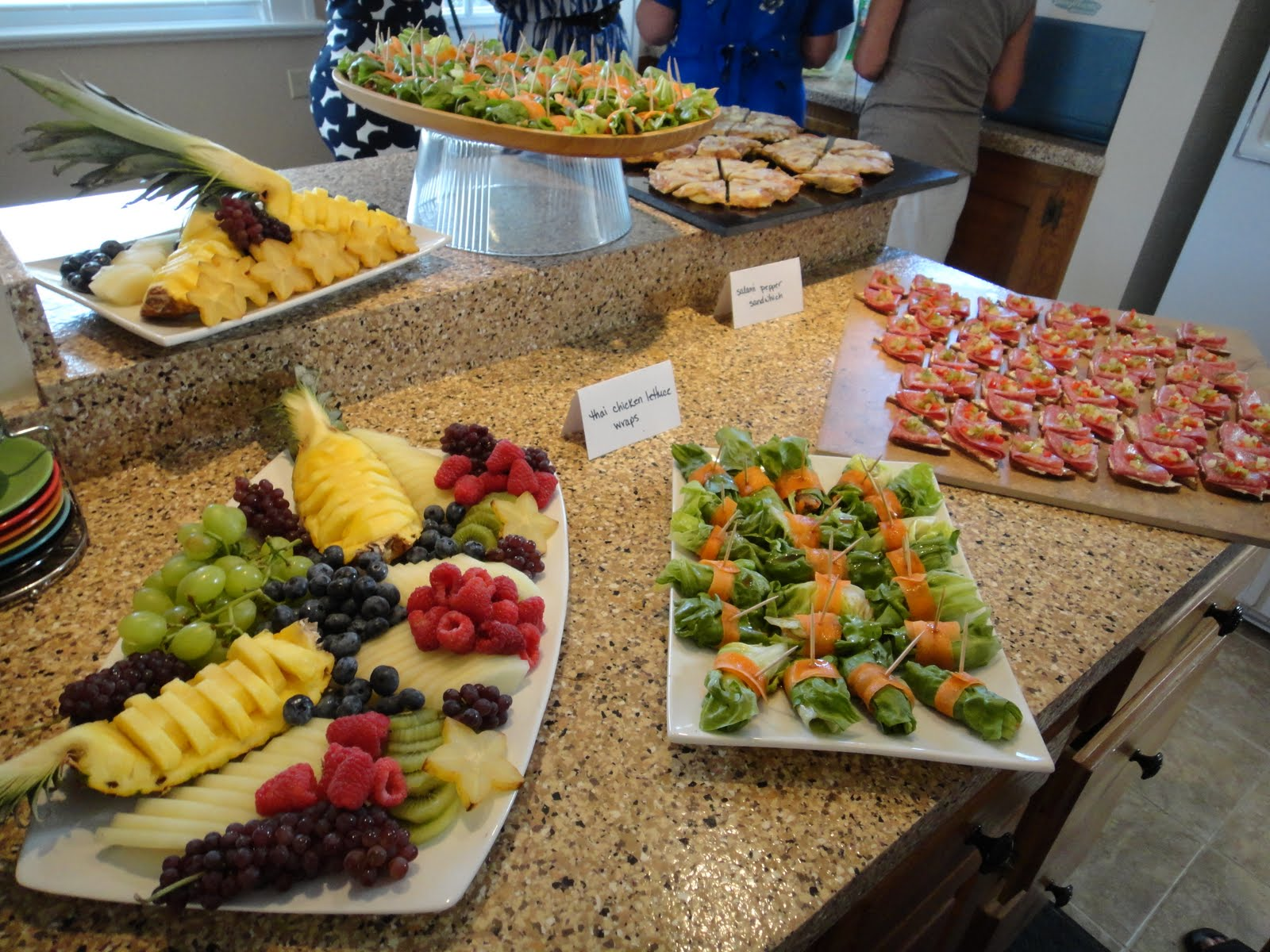 My life as a pastry student baby showers and desserts for Canape platters