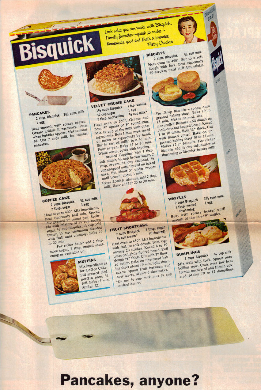 Memere's Favorite Recipes: Old Bisquick Recipes Advertisement