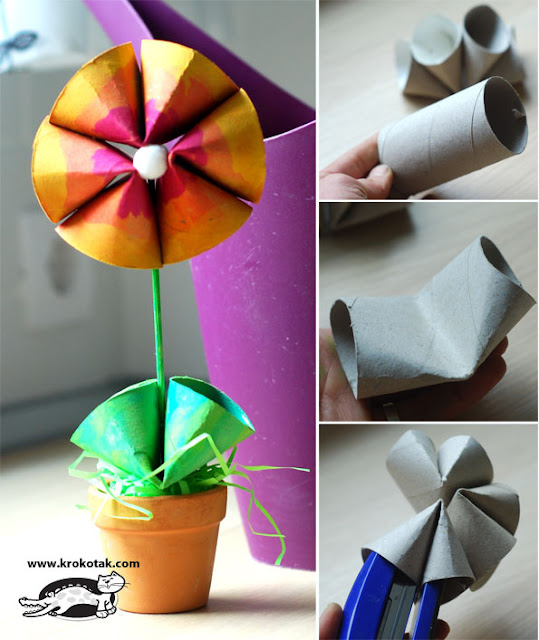 Recycling Toilet Rolls - Spring Flowers