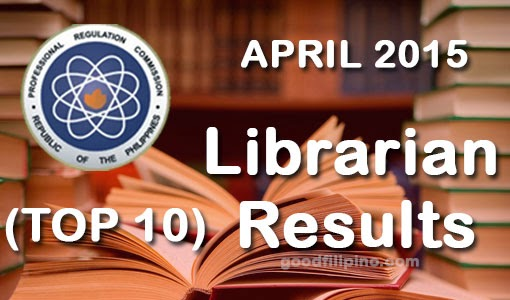 TOP 10: Librarians Board Exam Passers 2015 (April)