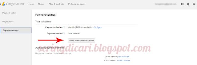 Cara Setting Pembayaran Google Adsense 2