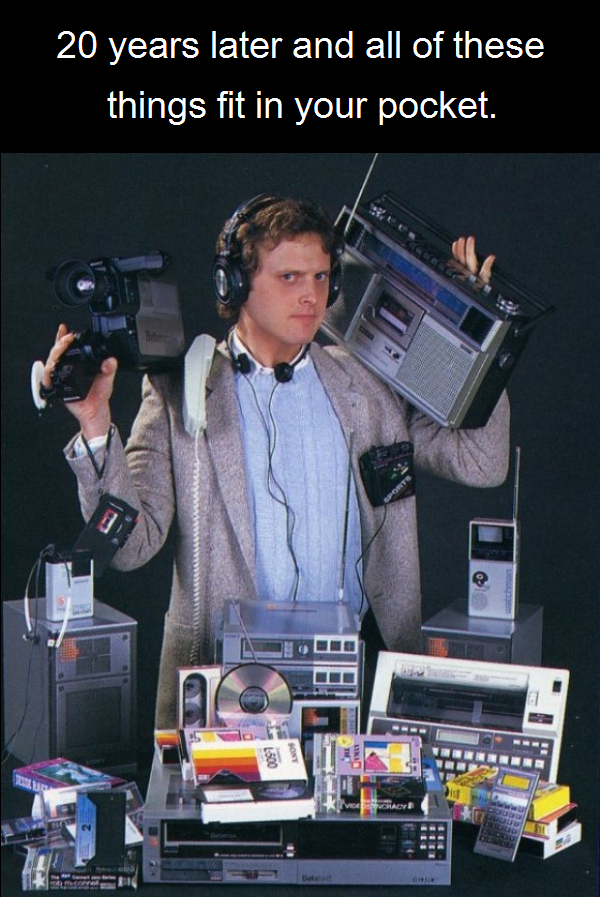 80's gadgets are now your iPhone