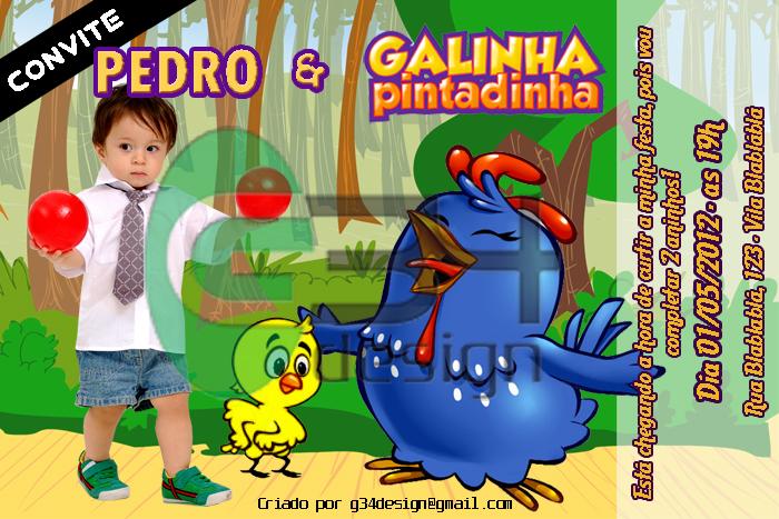 Convite De Anivers  Rio Galinha Pintadinha