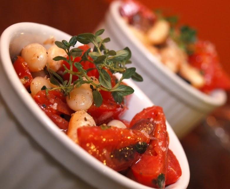 Saladinha de Feijão Branco com Tomate (vegana)