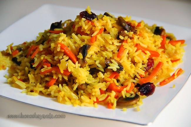 Постный рассыпчатый рис с овощами