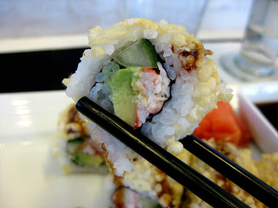 Crunchy California Roll at Wicker Park Seafood & Sushi Bar at O'Hare International Airport (ORD) in Chicago, IL - Photo by Michelle Judd of Taste As You Go