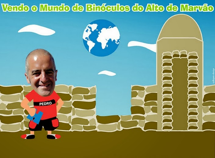 Vendo o Mundo de binóculos, do alto de Marvão