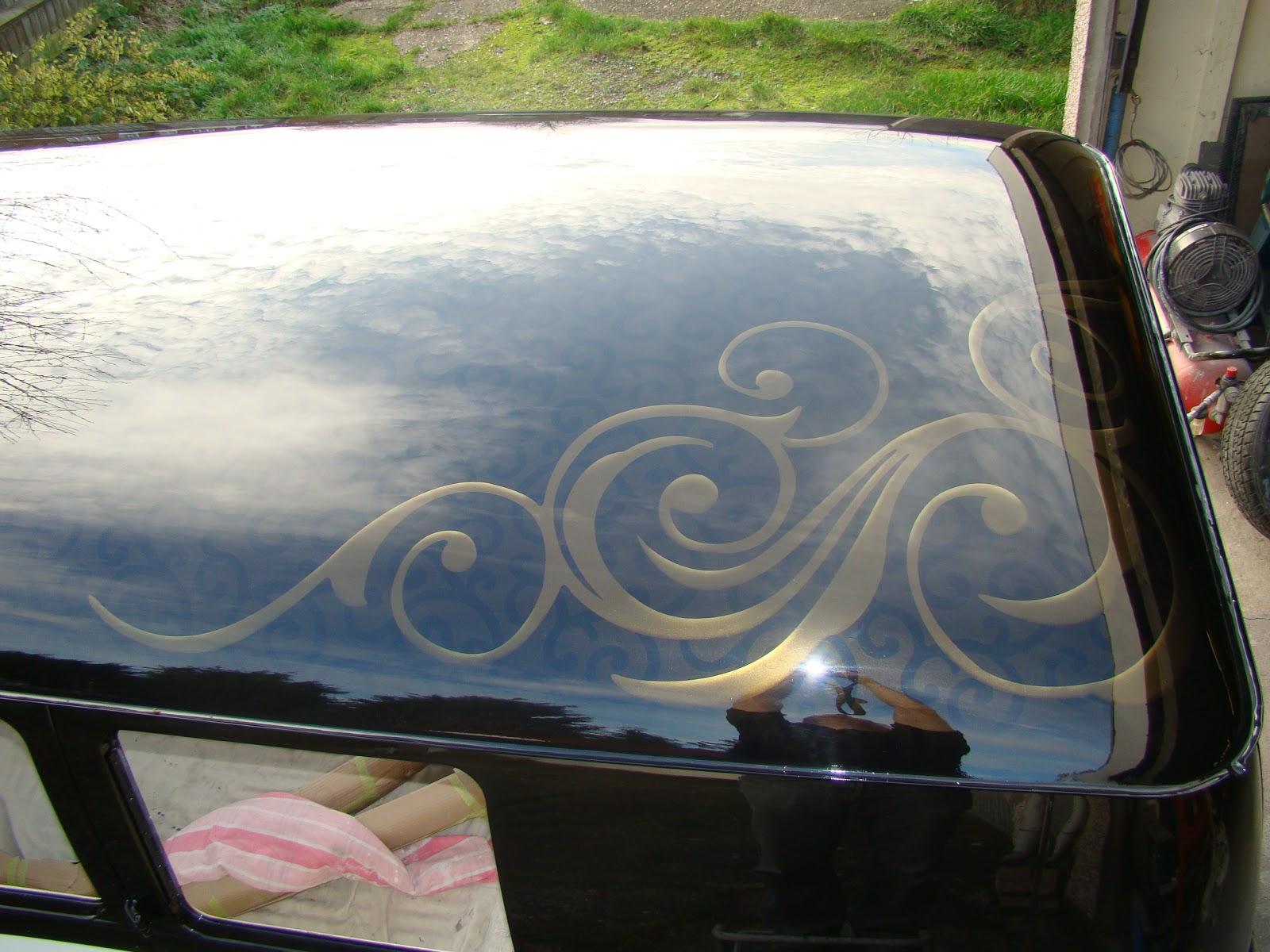 Custom Paint Roof swirl