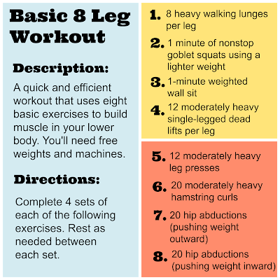 Basic 8 Leg Workout from Hungry Gator Gal