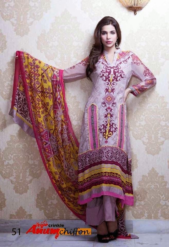 Al ZohaibTextileAnumChiffonCollection2014 wwwfashionhuntworldblogspotcom 22 - Anum Chiffon Collection 2014 By Al-Zohaib Textile