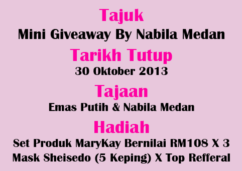 Mini Giveaway By Nabila Medan