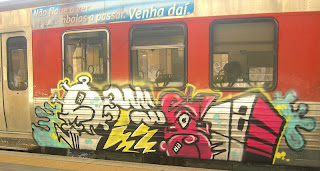 Graffiti Art in Train