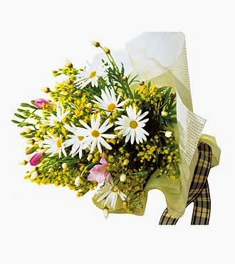 White and Yellow Bouquet lowers delivery in Japan with price
