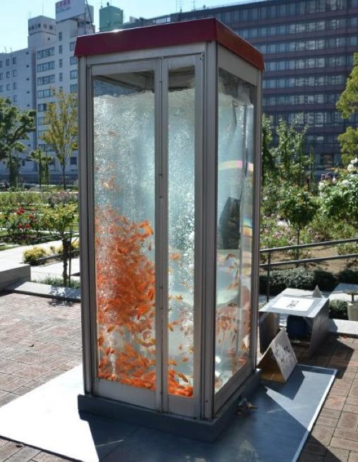cabine téléphonique au Japon
