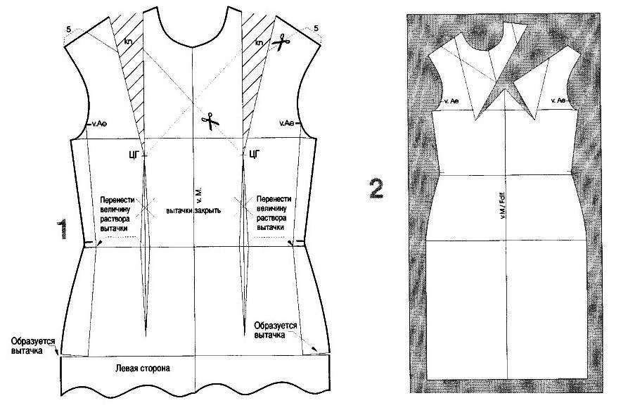 Выкройка Блузки С Плечевыми Вытачками