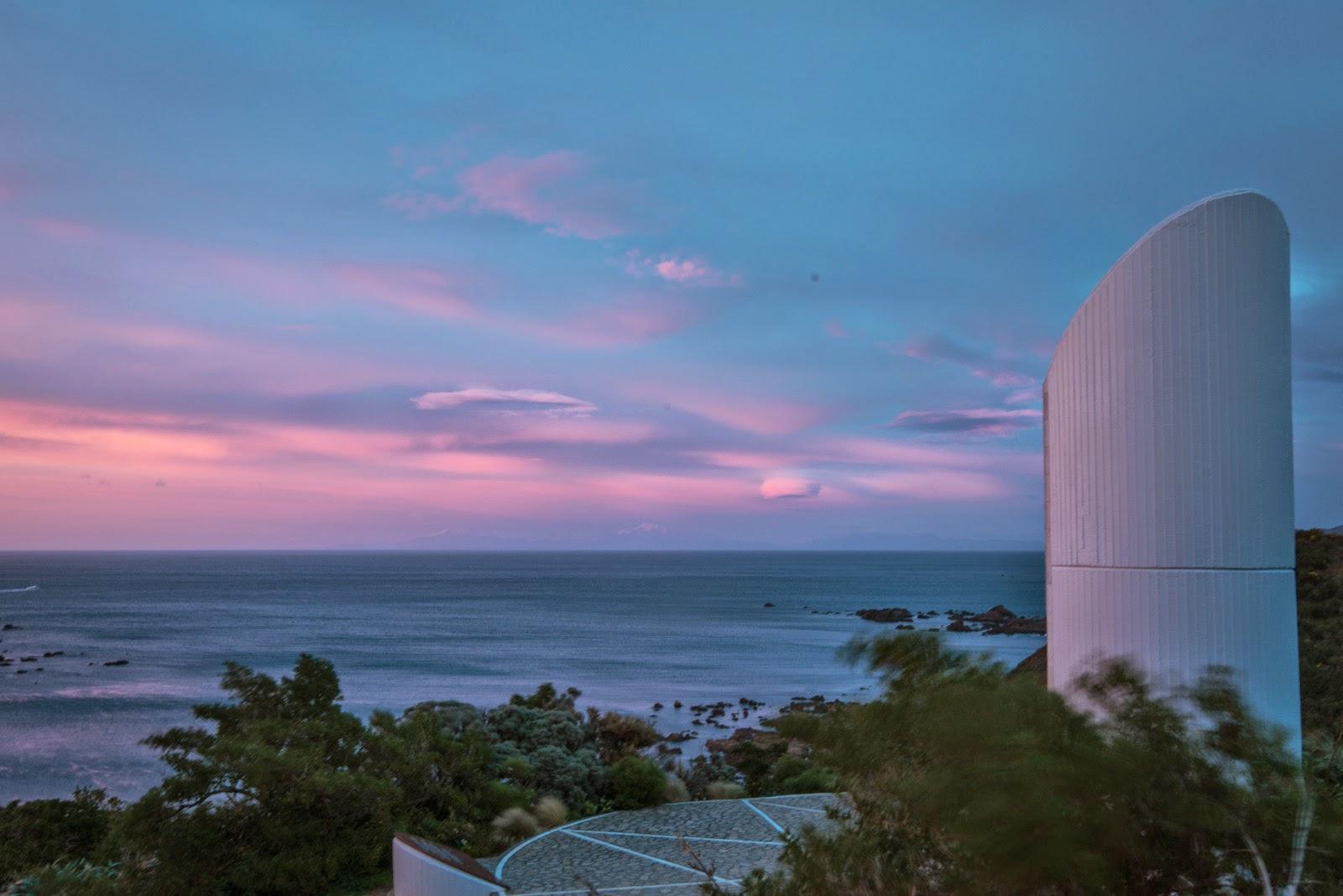 Pink clouds at sunrise Ataturk Memorial