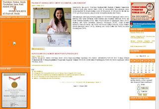 Penghargaan MURI di Website KPU