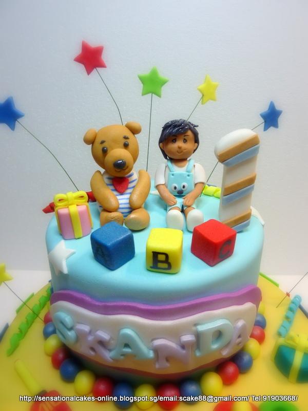 The Sensational Cakes Toys Theme Figurine Cake Singapore Boy Figurine Teddy Bear Cricket