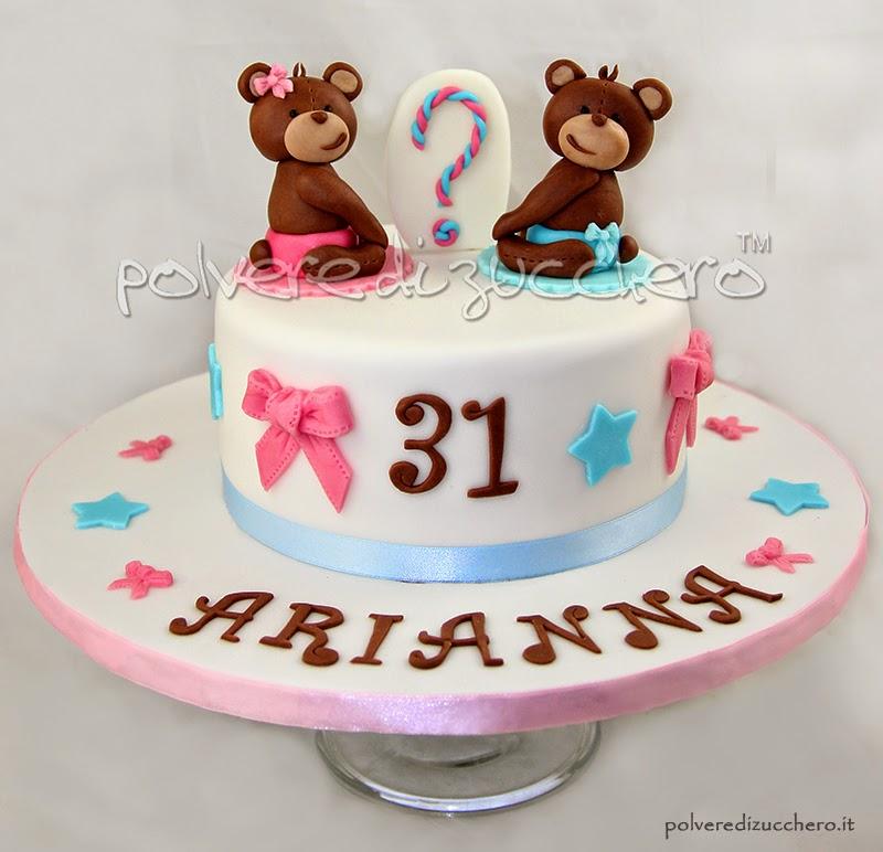 torta orsetti pasta di zucchero torte decorate compleanno vendita polvere di zucchero