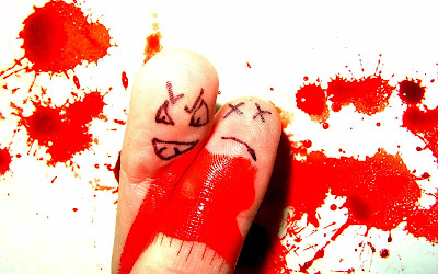 Funny Finger Faces Wallpapers