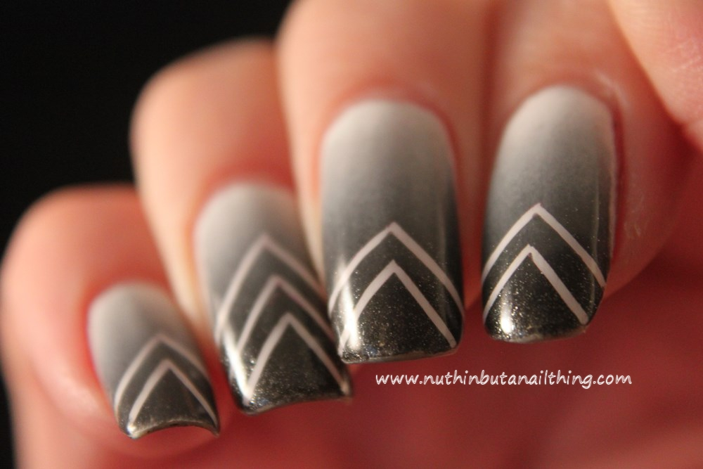 striping tape gradient nail art