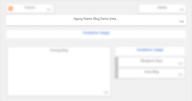 Menghapus Header Bawaan Blog