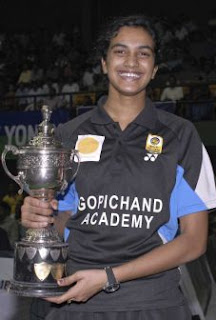 P V Sindhu Female Indian Badminton Player