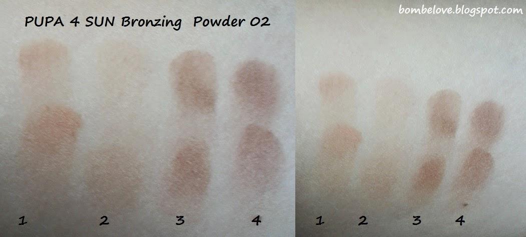 PUPA 4sun bronzing powder 02 puder brązujący bombelove.blogspot.com