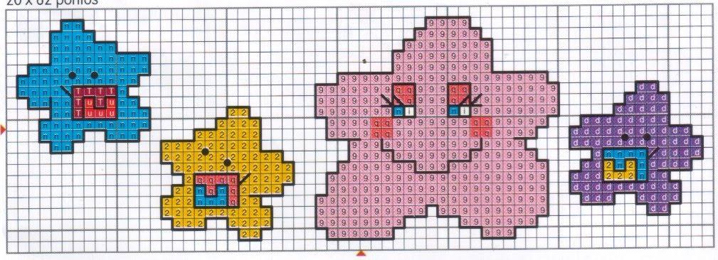 lindos motivos infantis em ponto cruz gráficos ponto cruz para bebês