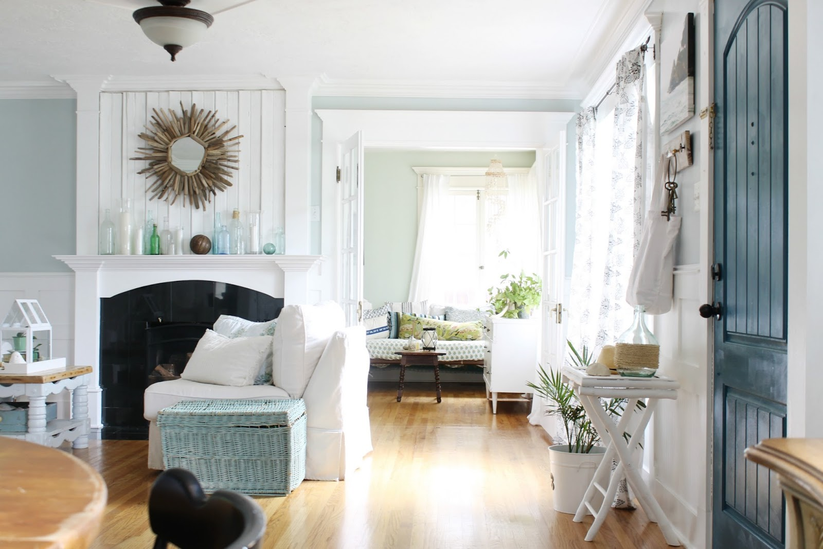 A Set Of French Doors Lead You Into Our Home Office Which I Like To Refer As The Sunroom Because All Windows