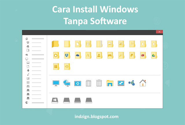 Cara Install Windows 7, 8, 8.1 dan windows 10 dengan Flashdisk Tanpa Software Tambahan