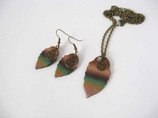parure bijoux caramel original artisanal