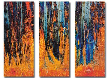 canvas art, abstract, wall art, orange, blue, art,