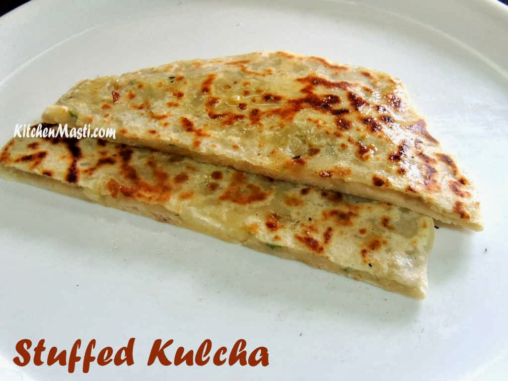 Stuffed kulcha recipe vegetarian recipes stuffed kulcha recipe forumfinder Images