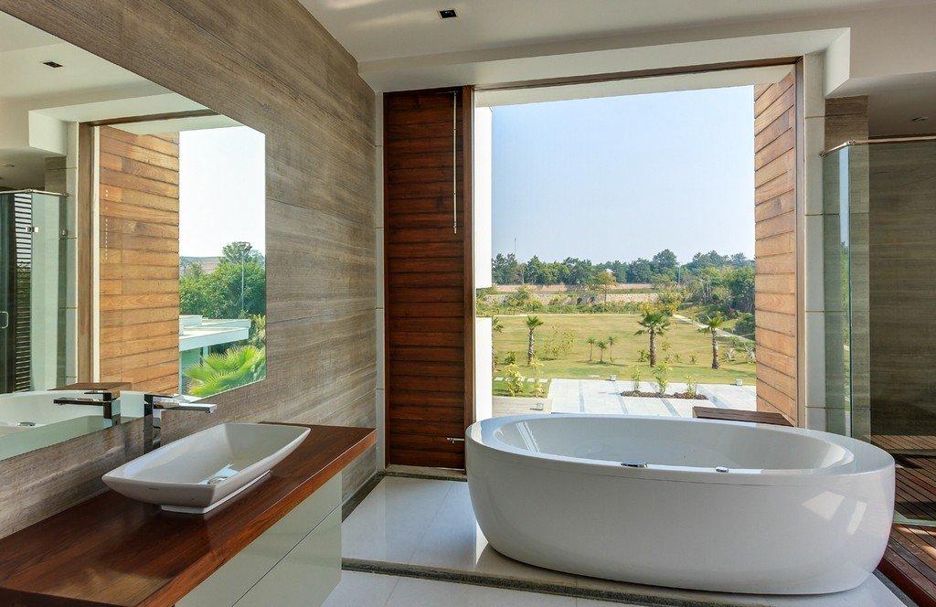 World of architecture modern farmhouse by dada partners for Villa interior design in india
