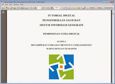Tutorial Menampilkan Citra dan Menyusun Citra Komposit Warna dengan ER Mapper www.guntara.com