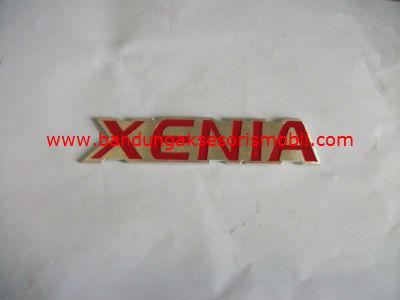 Emblem Alumunium Kombinasi Merah Xenia