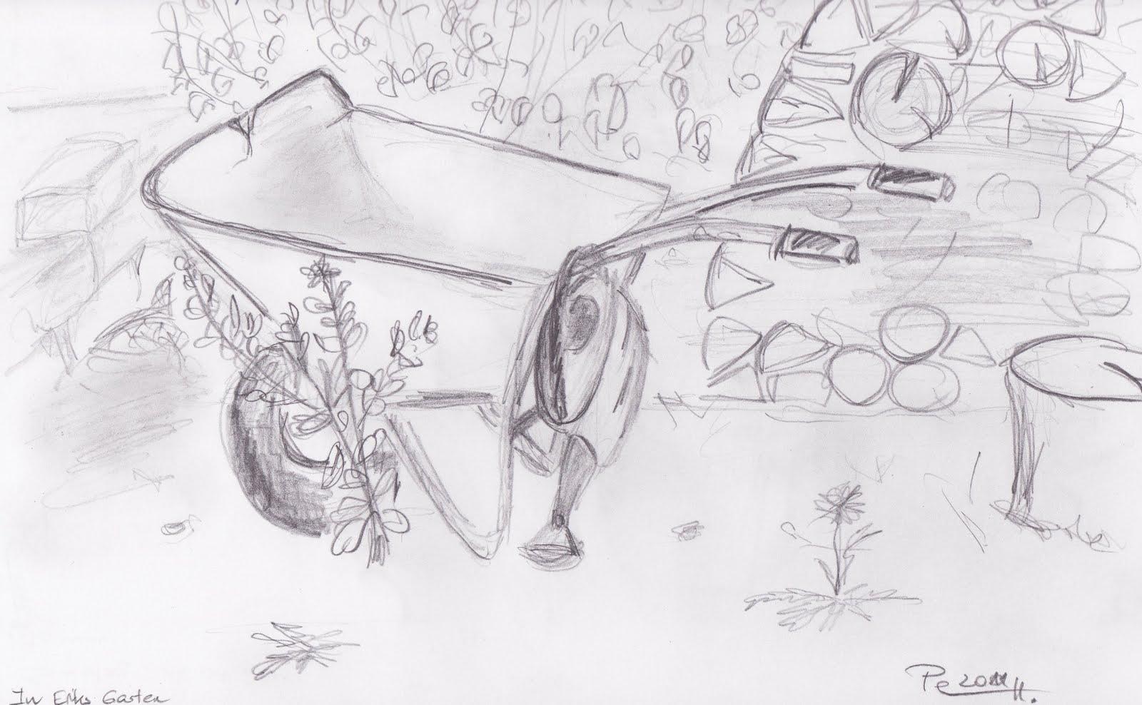 Petra 39 s mal und zeichen welt sommer im garten - Garten zeichnen ...