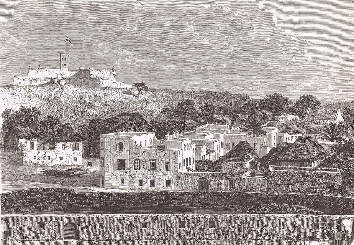 View of Elmina c. 1870