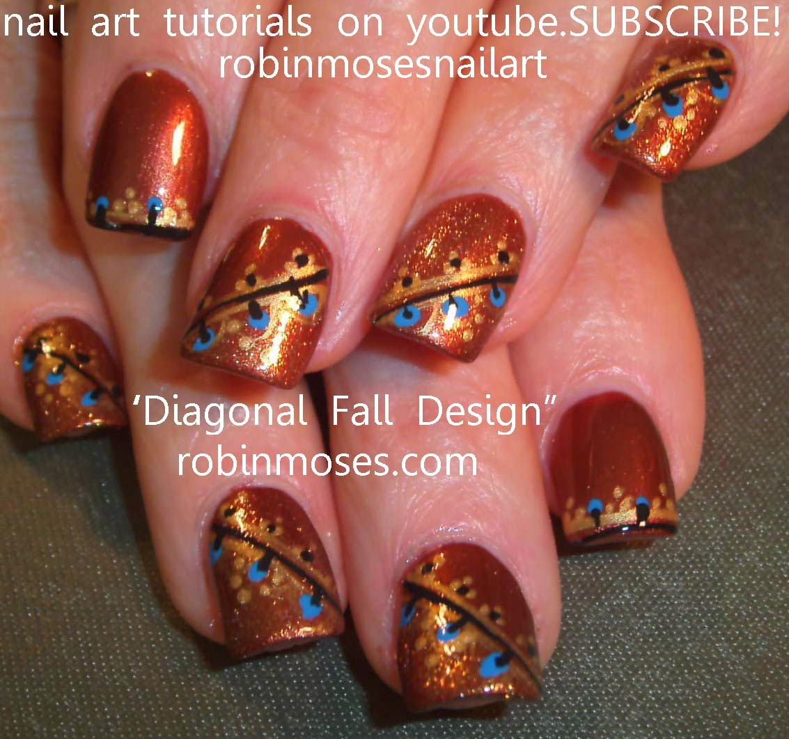 Prettyfulz Fall Nail Art Design 2011: Robin Moses Nail Art: July 2011