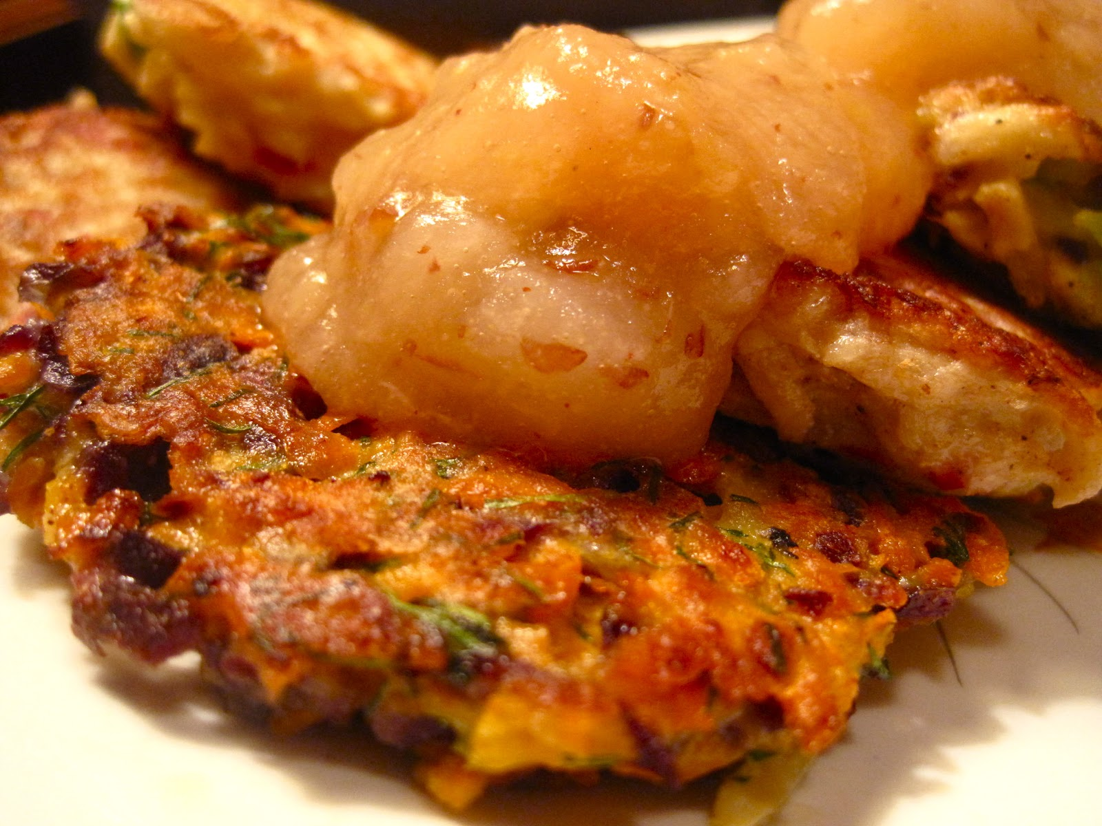 Kvell in the Kitchen: Root Vegetable Latkes with Apple Pear Mash