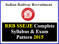 RRB SE JE EXAM PATTERN 2015