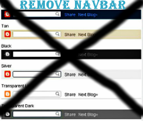 Remove navbor from blogger