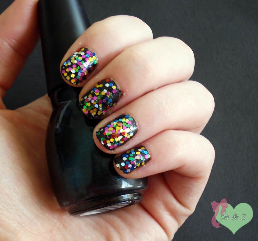 ... Personal Style Blog: Nail Day Monday: Confetti Glitter Nail Art