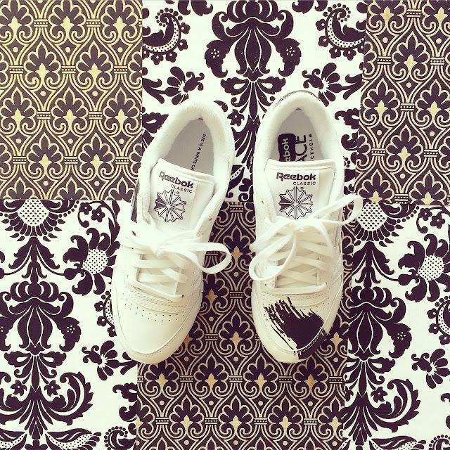 ReebokXFace, Reebok face collection sneaker, white sneaker, fashion blog