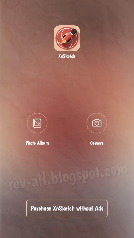 Tampilan utama XnSketch - memberi efek sketsa pada foto dengan mudah di android (rev-all.blogspot.com)