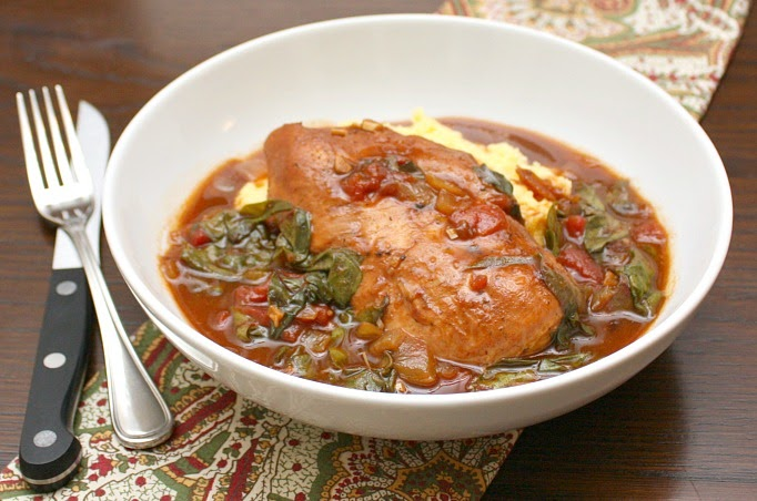 APPLE A DAY: Balsamic-Braised Chicken with Swiss Chard