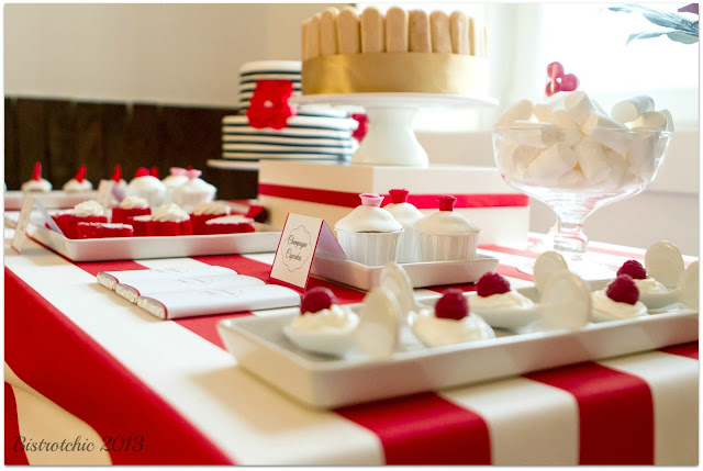 Love is in the Air Party sweets featured in Pizzazzerie from BistrotChic
