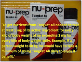 Health Ministry will set a minimum content under Trade Description Act Nu-Prep100USpatent longjack